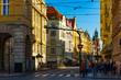 Street view of Prague, Czech Republic