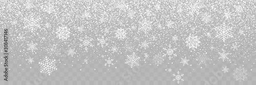 Fotografie, Tablou Falling Snow background