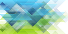 Green And Blue Minimal Triangl...