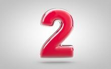 Pink Nail Polish 3d Number 2 O...