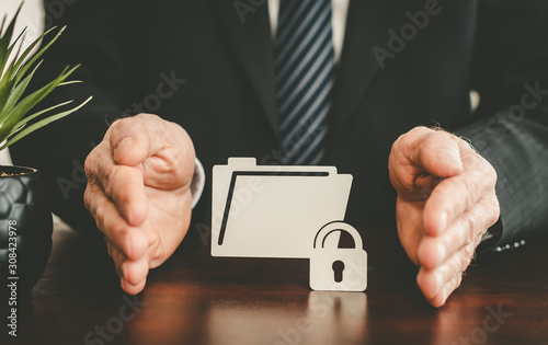 Photo Concept of data protection
