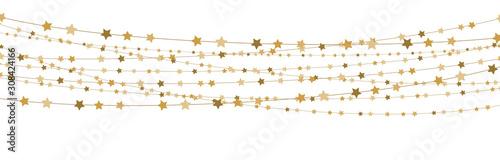 Fototapeta stars on strings background for christmas time obraz
