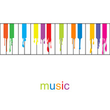 Abstract Music Poster. Colored...