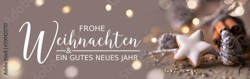 Fotografia, Obraz Weihnachtskarte, Weihnachtsgruß, Neujahrsgruß -  Frohe Weihnachten und ein gutes