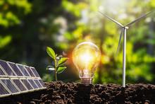 Concept Idea Clean Energy In N...