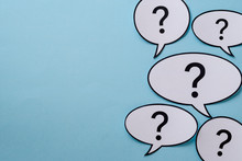 Speech Or Thought Bubbles With Question Marks