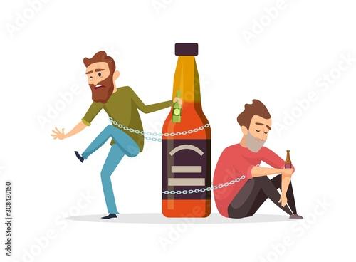 Alcohol addict Billede på lærred