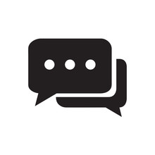 Chat Icon Vector Isolated On Background. Trendy Message Symbol. Pixel Perfect. Illustration EPS 10. - Vector.