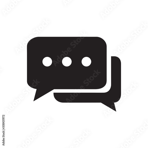 Photo Chat icon vector isolated on background