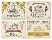 Wine Labels. Vintage Images Fo...