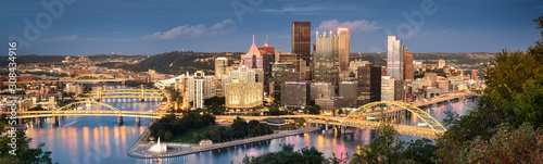 Foto Pittsburgh skyline by night