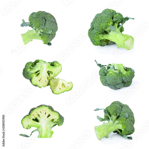 Fotografía  Fresh broccoli isolated on white background