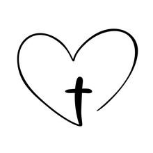 Vector Christian Logo Heart Wi...