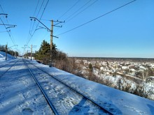Railway In Winter