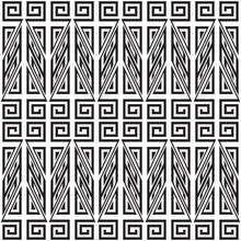 Seamless Monochrome Pattern. Fashion Textile Print With Greek Design. Greece Meander Fabric Background.
