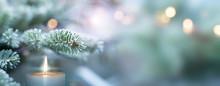 Festive Winter Christmas Backg...