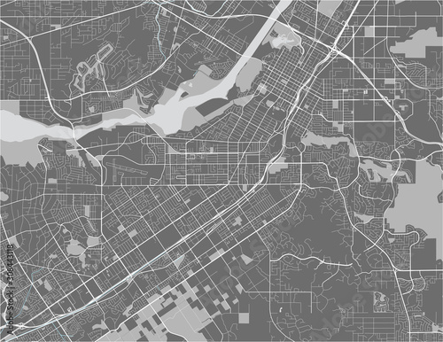 map of the city of Riverside, California, USA Wallpaper Mural