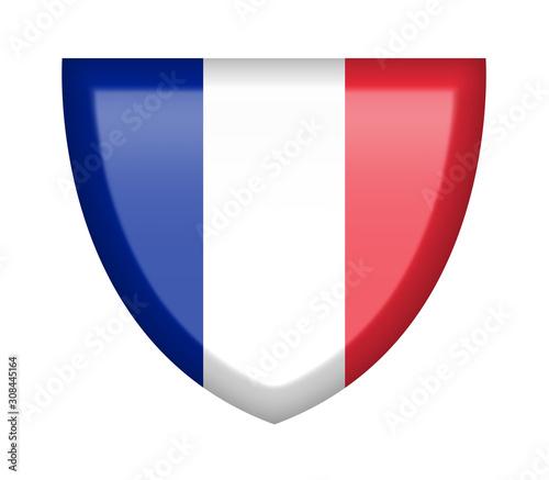 Scudetto con bandiera Francia Wallpaper Mural