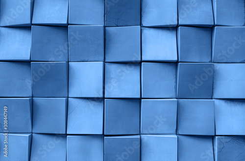 Fototapeta Abstract background of squares in a trendy classic blue color. obraz na płótnie