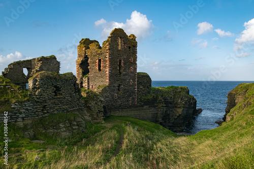 Photo Ruins of the Castle Sinclair Girnigoe, Near Wick, in the North of Scotland