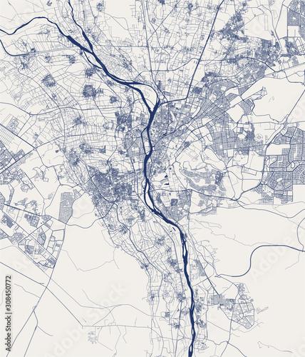 Cuadros en Lienzo map of the city of Cairo, Giza, Egypt