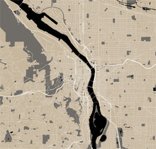 Map Of The City Of Portland, O...