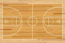 Basketball Court Floor With Li...