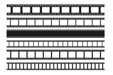 Blank Cinema Film Strips Colle...