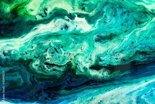 Fototapety, obrazy: Original epoxy resin abstract art close up