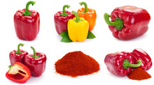 Collection Of Fresh Pepper On ...