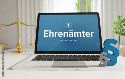 Obraz na plátně Ehrenämter – Recht, Gesetz, Internet