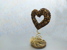 Heart Made Of Coffee On A Stan...