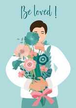 Romantic Card With A Young Man...