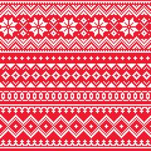Christmas, Winter Vector Seaml...