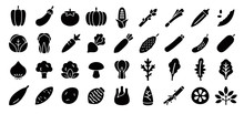 Vegetable Icon Set (Flat Silho...