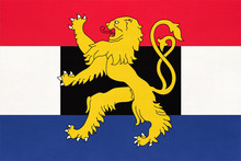 National Flag Of Benelux, Netherlands. Luxembourg, And Belgium Country
