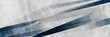 Dark blue grunge stripes abstract banner design. Geometric tech background. Vector illustration