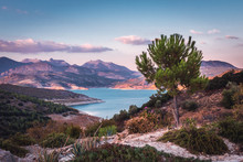 Lake Iznajar In Andalucia, Southern Spain
