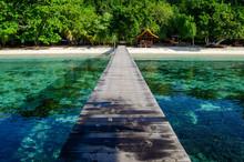 Tropischer Bootssteg