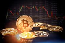 Bitcoin Cryptocurrency, Virtual Money Concept