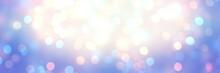 Holiday Glitter Blue Banner. E...
