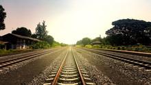 The Countryside Railway Tracks...