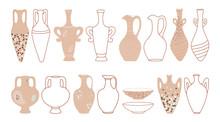 Set Of Jugs, Amphorae And Plat...