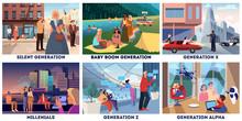 Various Generations Representa...