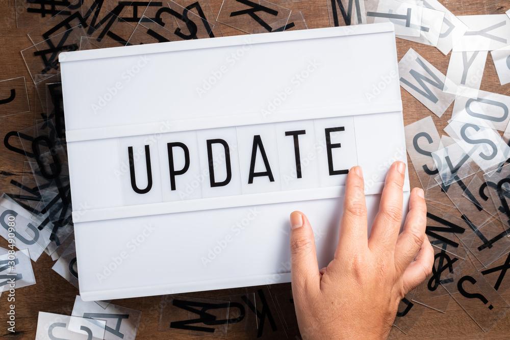 Fototapeta Update on Light Box