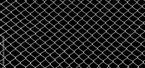 the cage metal net on black background Fototapet