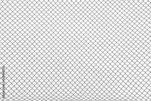 Fotomural the cage metal net on white background