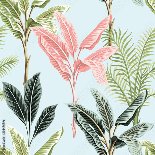 vintage-pink-and-green-leafs