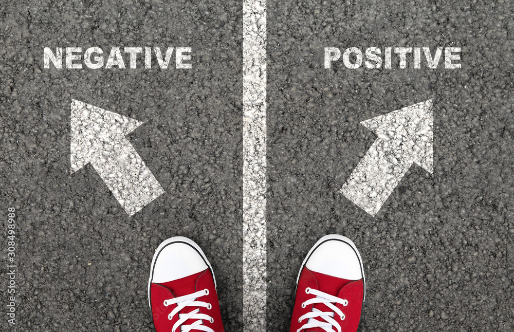 Fototapeta Negative or positive thinking is a personal choice