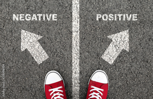 Negative or positive thinking is a personal choice Canvas Print